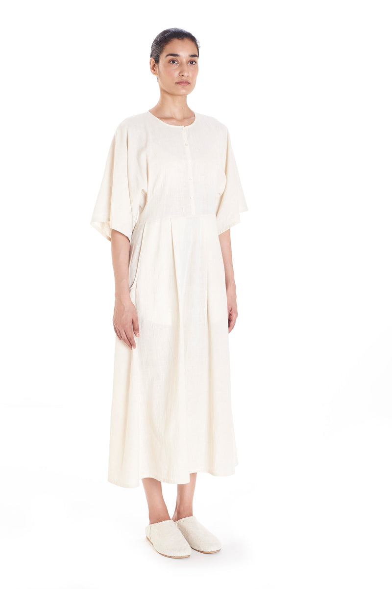 RELAXED FIT DRESS UNBLEACHED ORGANIC COTTON