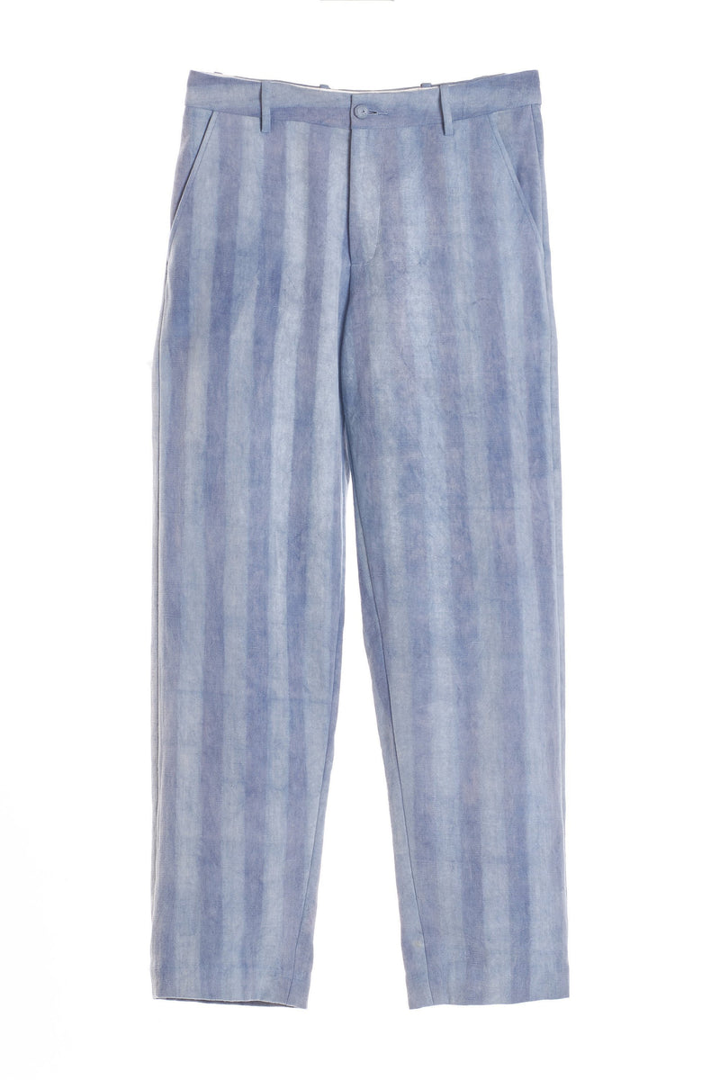 HAND PAINTED DENIM TROUSERS