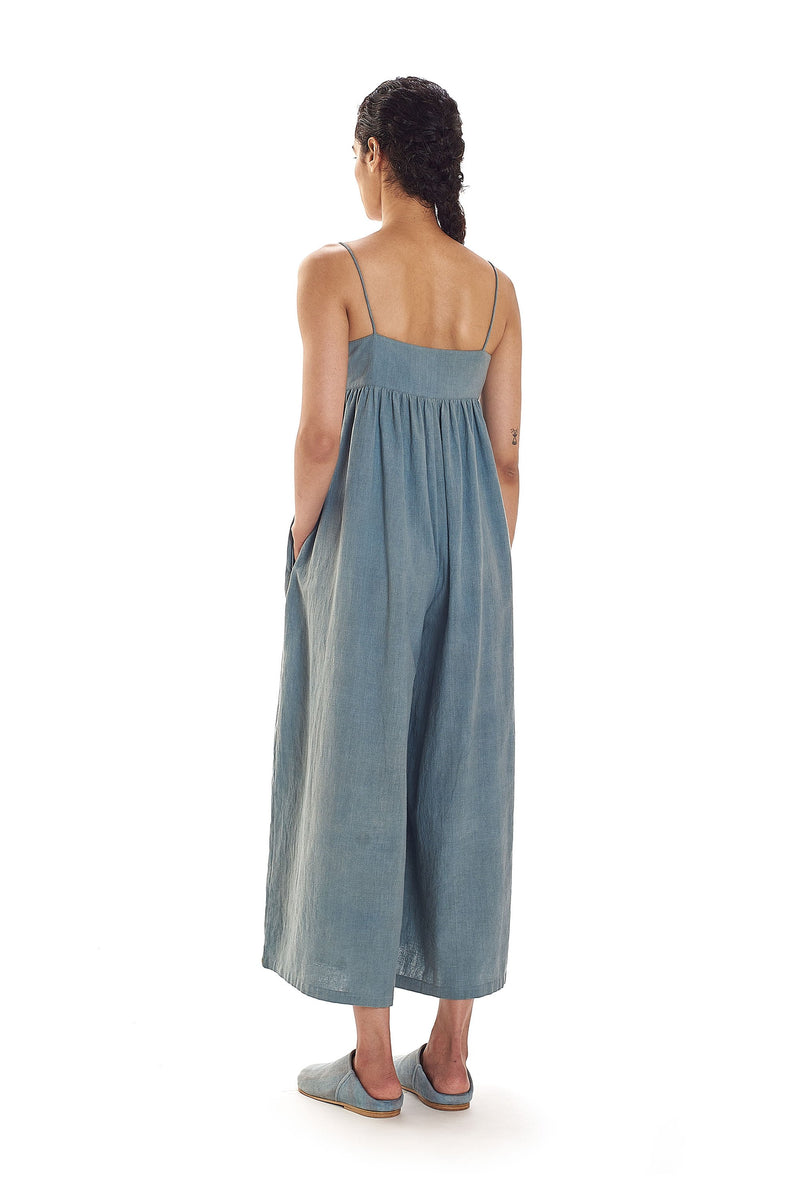 INDIGO JUMPSUIT ORGANIC COTTON
