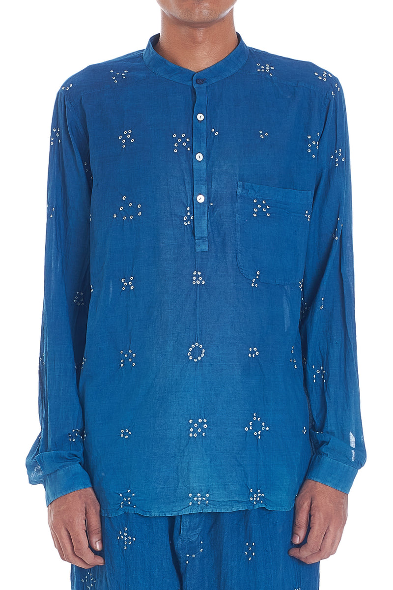 INDIGO FULL SLEEVE MENS SHIRT ORGANIC COTTON