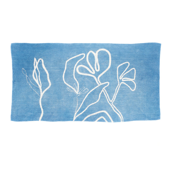 INDIGO HANDPAINTED TOWEL