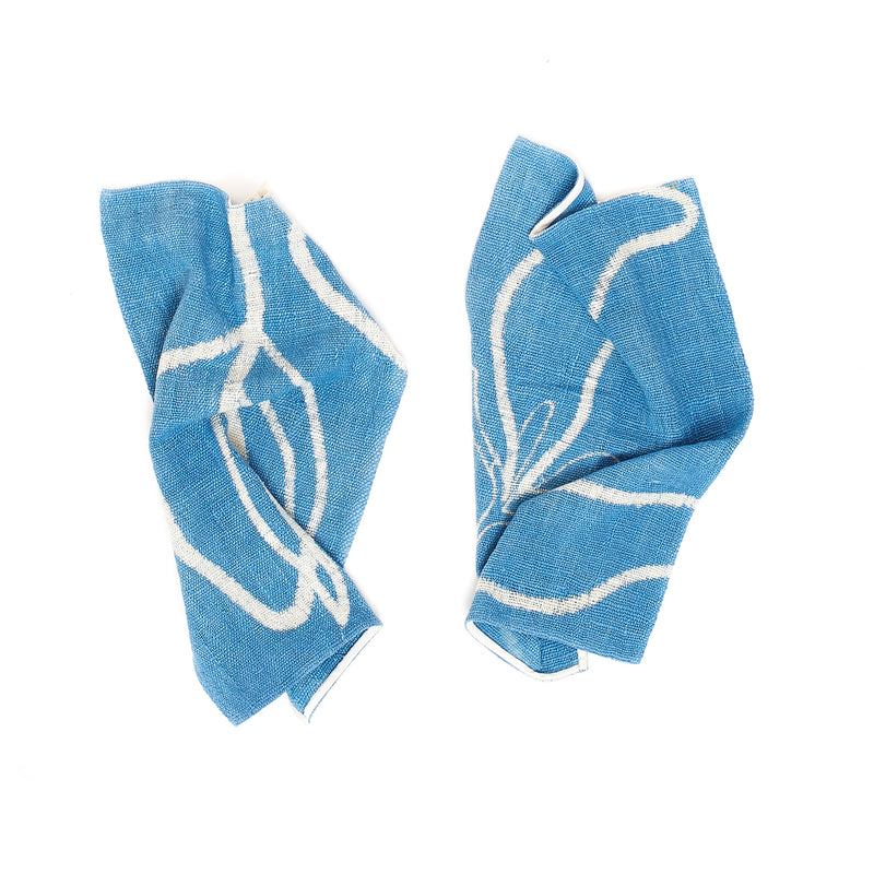 INDIGO HAND PAINTED TOWEL SMALL