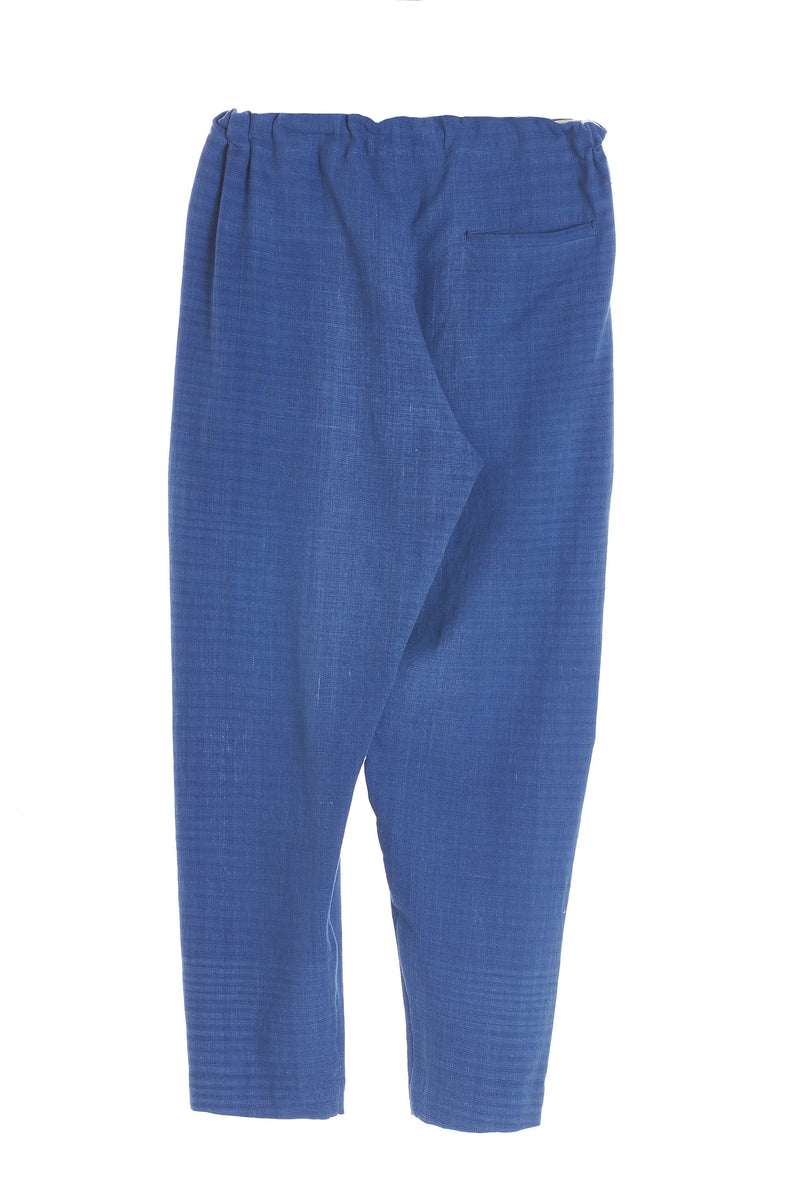 INDIGO STRING PANTS ORGANIC COTTON