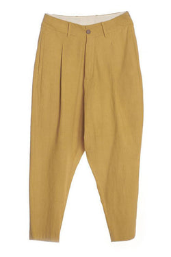 OCHRE YELLOW RELAXED FIT TROUSER ORGANIC COTTON
