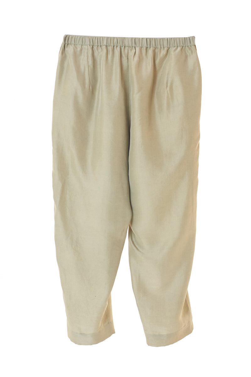 MINT GREEN FINE MULBERRY SILK UNISEX PANTS