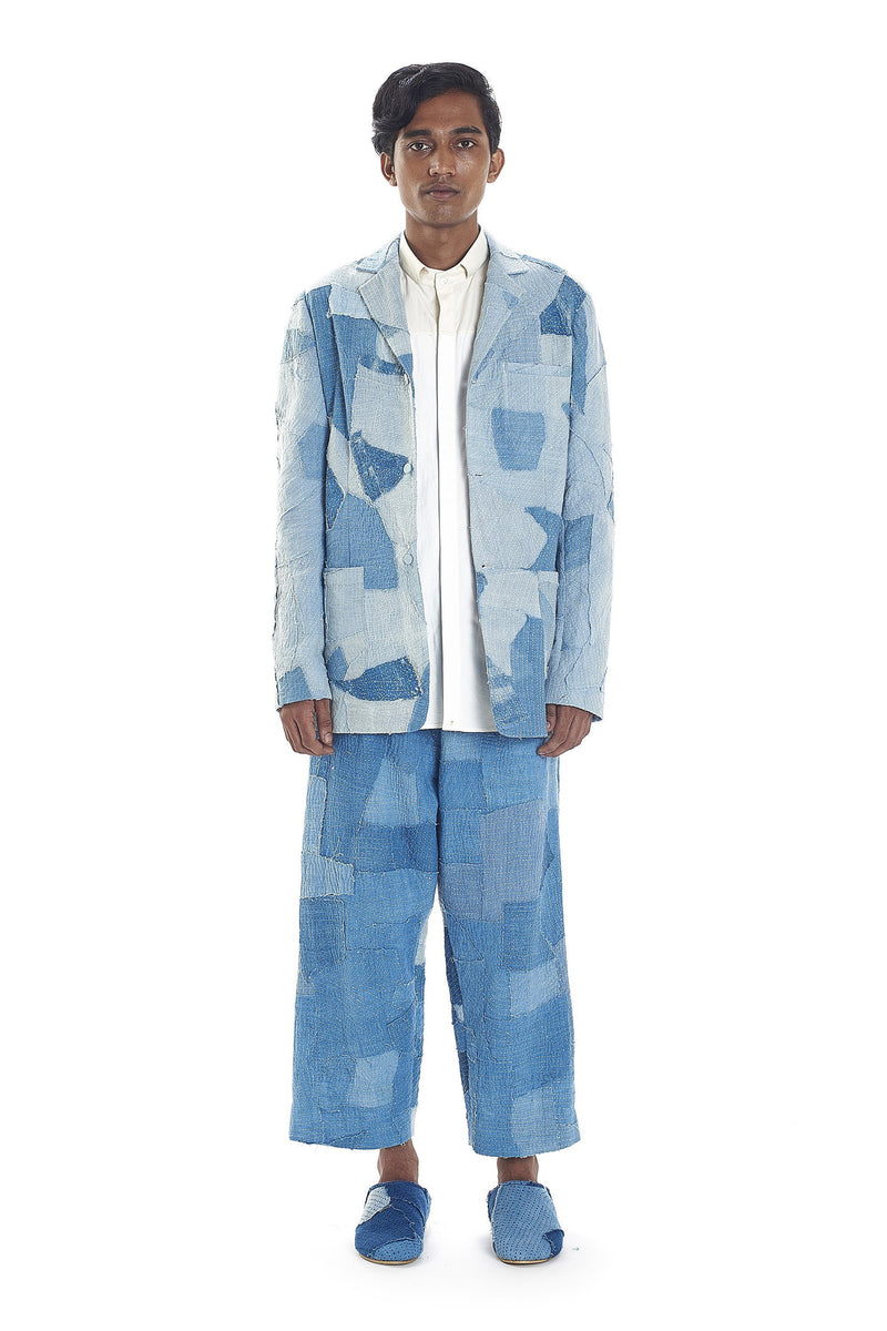 INDIGO JACKET PATCHWORK QUILTED