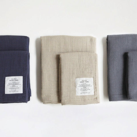 2.5 Ply Gauze Towels : Navy