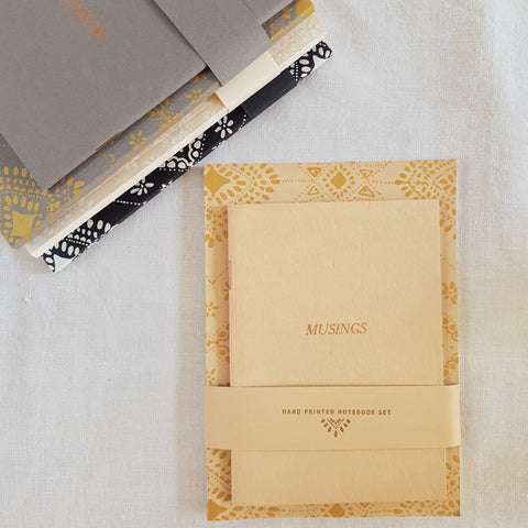 Screen printed journals : set of two