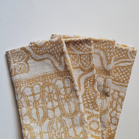 Napkin set : Lace in Burnt Gold x Printink Studio