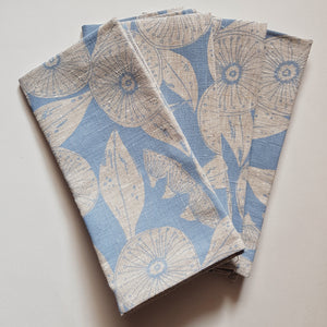 Napkin set : Gum Flower in Powder Blue x Printink Studio