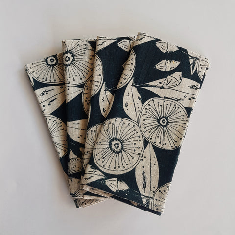 Napkin set : Gum Flower Deep Green x Printink Studio