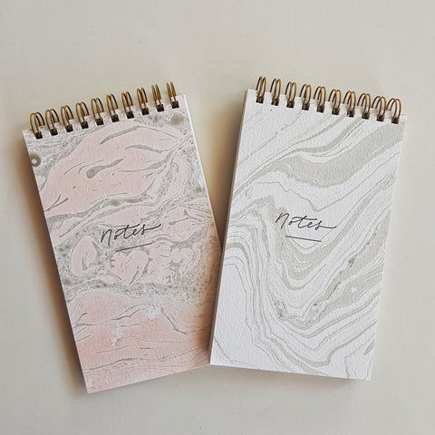 Handmade Notebooks : Marbled