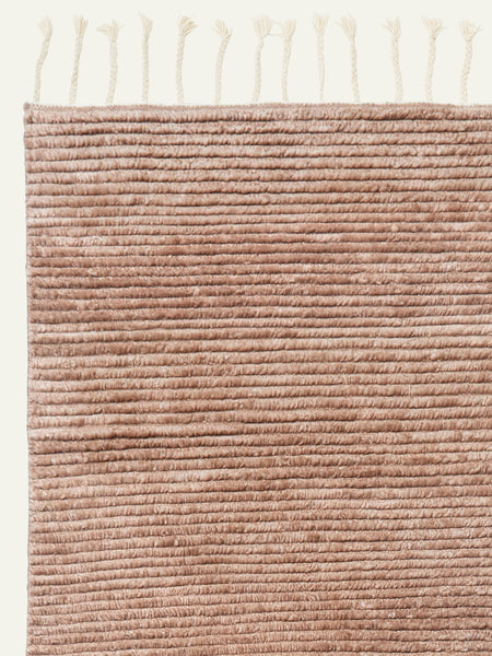 Armadillo floor rug : Malawi weave : Blush