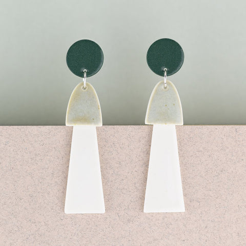 Earrings : Tassels (large) in Green x Erin Lightfoot