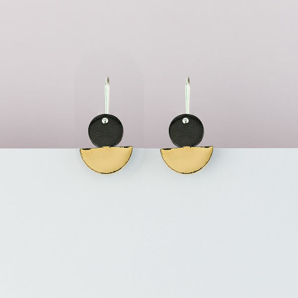 Float Earrings in black x Erin Lightfoot