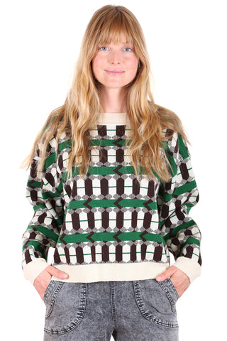 Olga de Polga Gold Rush Sweater Green front