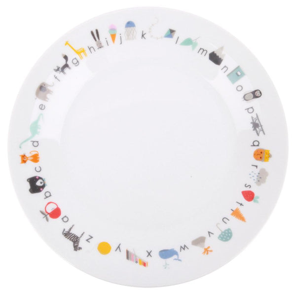 Porcelain dinner plate : ABC