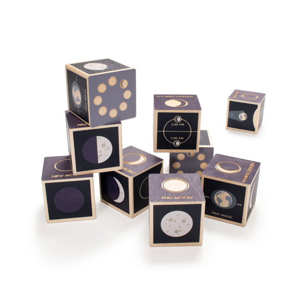 Moon Phase Blocks : set of 9