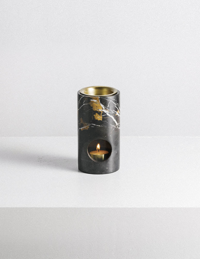 Addition Studio Synergy Oil Burner Black Marble