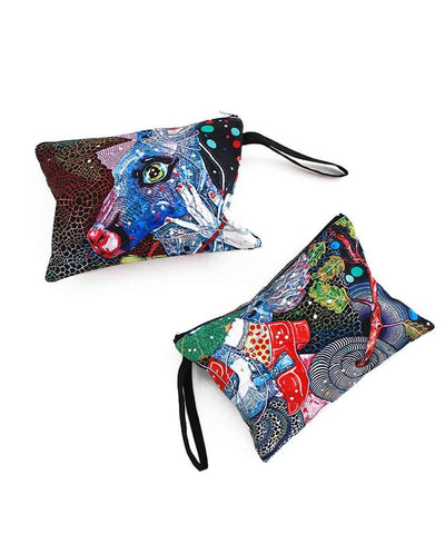 Zip pouch : Del Kathryn Barton 'highway is a disco'