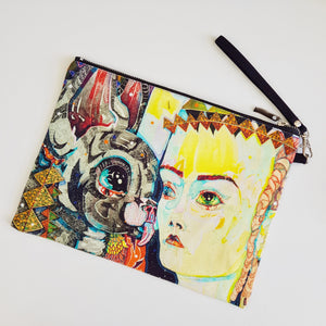 Zip pouch : Del Kathryn Barton 'my mother is awake now'
