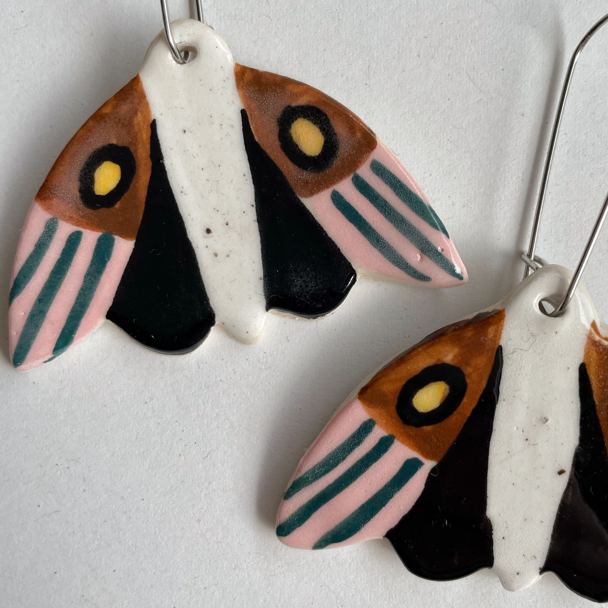 Midnight Moth Earrings