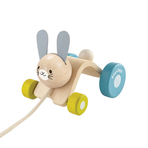Pull along wooden Hopping Rabbit Plan Toys