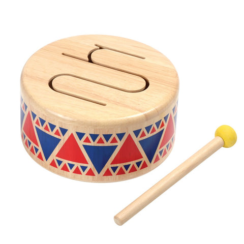 Wooden Plan Toy instrument : Drum