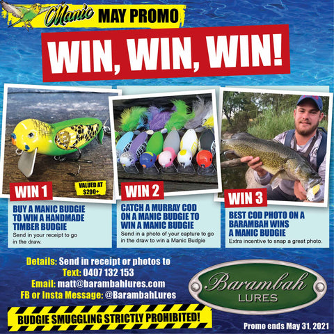 WIN A MANIC BUDGIE IN MAY!