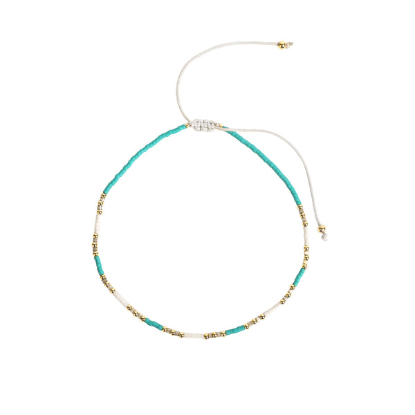 Forte Turquoise Beaded Anklet