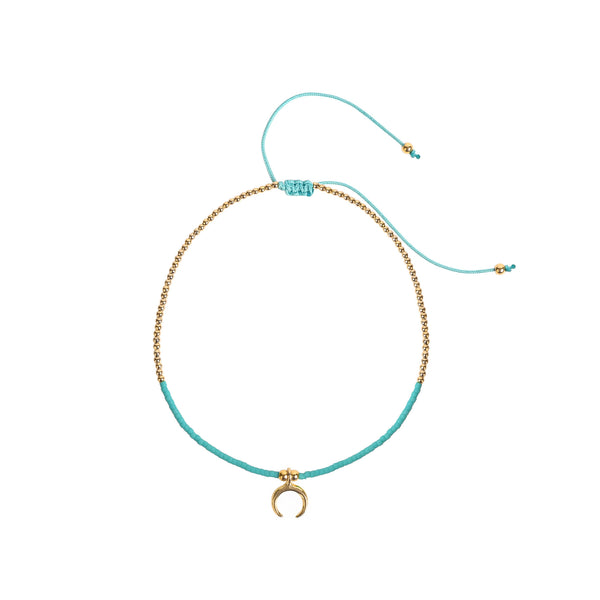 Cornicello Crescent Horn Anklet