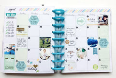 The Happy Planner Month Layout with Stickers
