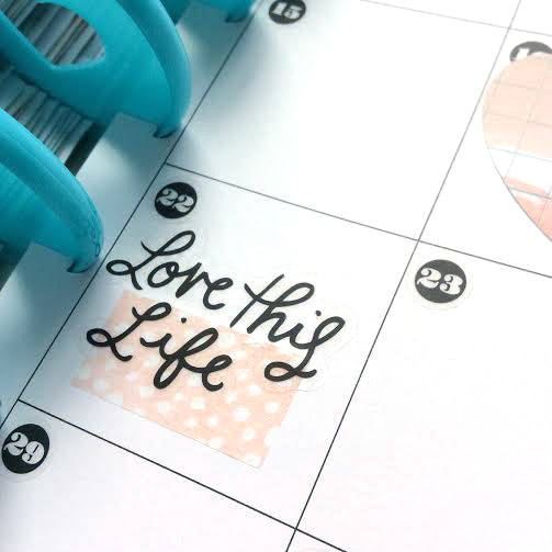 Love this Life Sticker in a Happy Planner