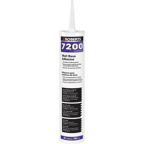 Roberts® 7200 Case (12) 30 fl oz Wall and Cove Base Adhesive in Cartridge Tube