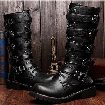 Boots - Mid-Calf Men Motorcycle Boots