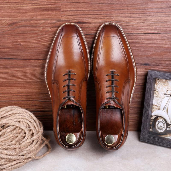 Business Men's Leather Retro Formal Shoes