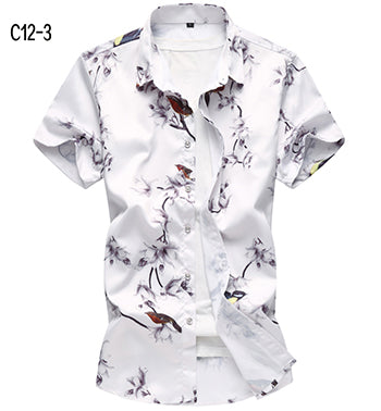 Fashionable men's shirt slim fit short sleeve