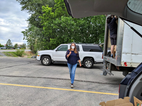 Cassie Michael and bulk meat pickups for Food and Meat Co-op