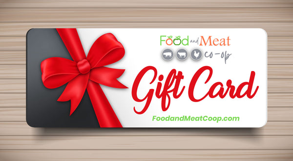 Food and Meat Co-op Gift Card with Holiday Bonus Reward