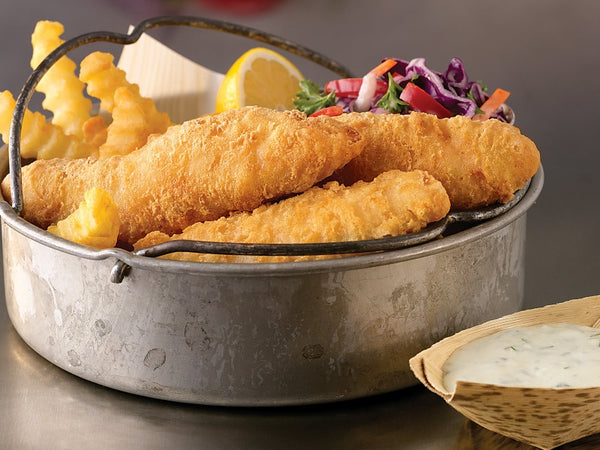 10lb Case Wild Alaskan Beer Battered Pollock Filets