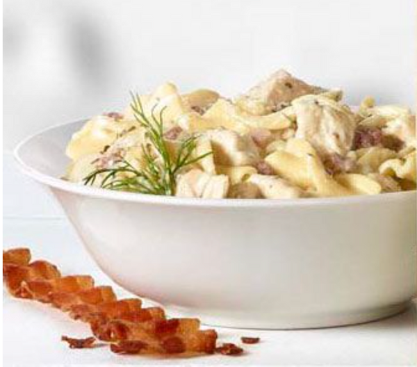 OVERSTOCK DEAL: Chicken, Bacon Noodles in Ranch Style Sauce, 4-4lb bags (Fully Cooked, Frozen)