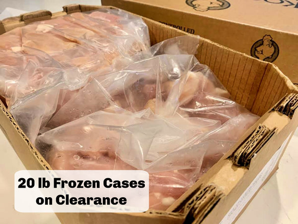 CLEARANCE DEAL: 20 lb. case - Bulk FROZEN Chicken Tenderloins: Boneless, Skinless, Antibiotic-Free, Cage Free, No Added Hormones or Steroids