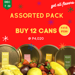 12 Cans Assorted Package +1 Free Avocado Graham Ice Cream