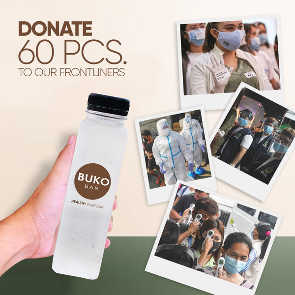 Donate Pure Buko Juice to our Frontliners - 60pcs.