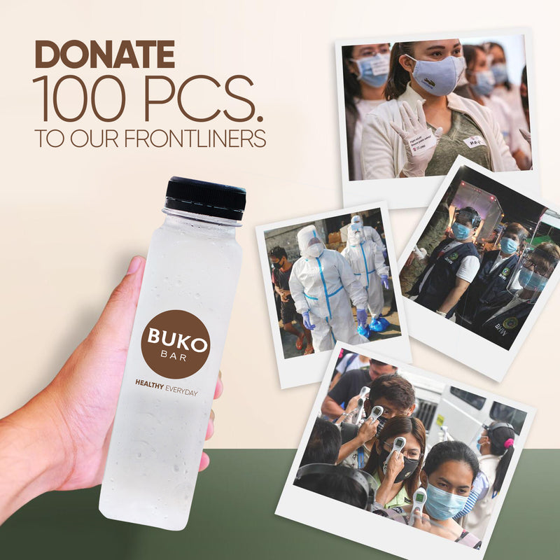 Donate Pure Buko Juice to our Frontliners - 100pcs.