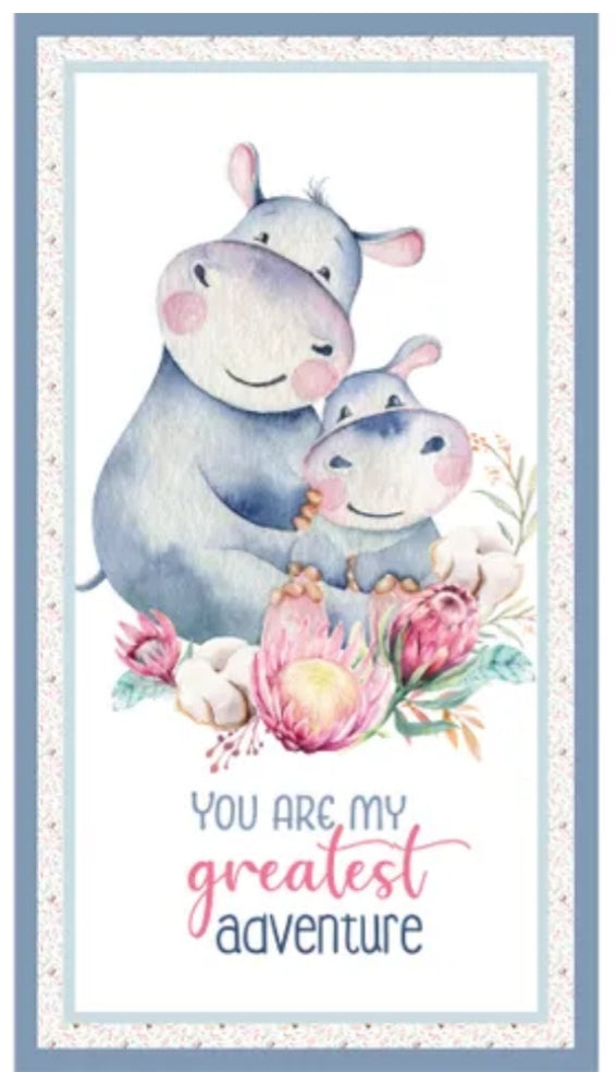 A MOTHER'S LOVE - HIPPO PANEL