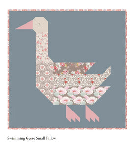 TILDA SWIMMING GEESE SQUARE PILLOW