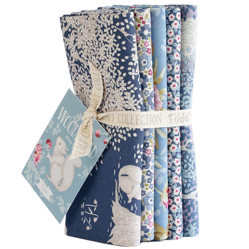 TILDA WOODLAND FAT QUARTER BLUE