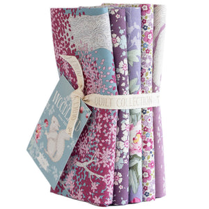 TILDA WOODLAND FAT 1/4 BUNDLE LILAC