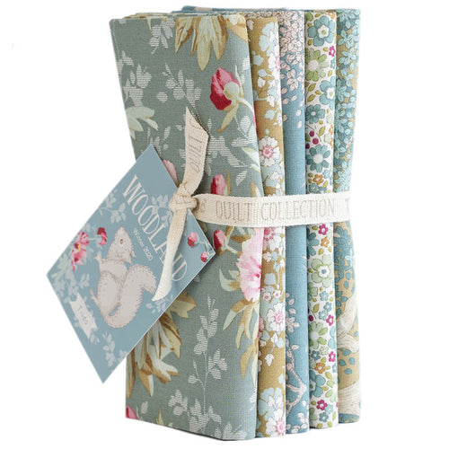 TILDA WOODLAND FAT QUARTER GREEN/SAGE BUNDLE